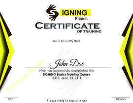 #99 for Certificate of Training by isramalik1989