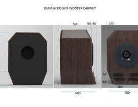 #13 for Sketch/illustrate/design a subwoofer cabinet by ArunNeysseri