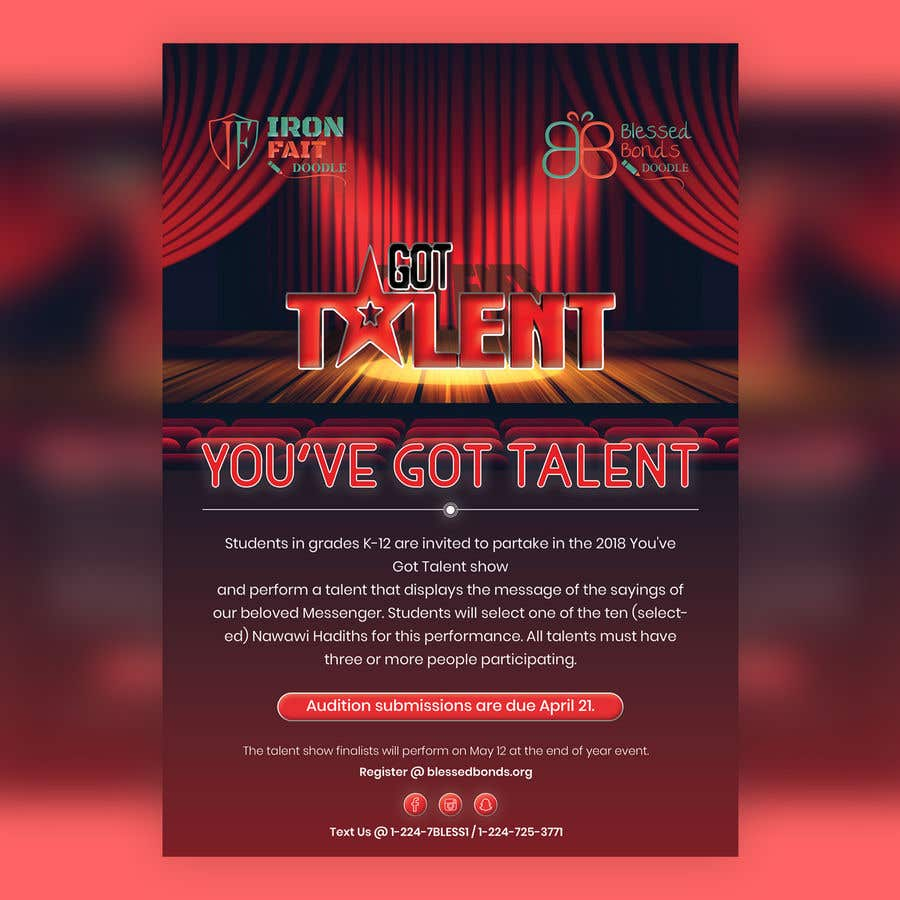 contest entry 22 for design a flyer talent show