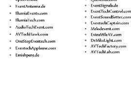 #130 for Webseite / Company name-making by alexvilleradic