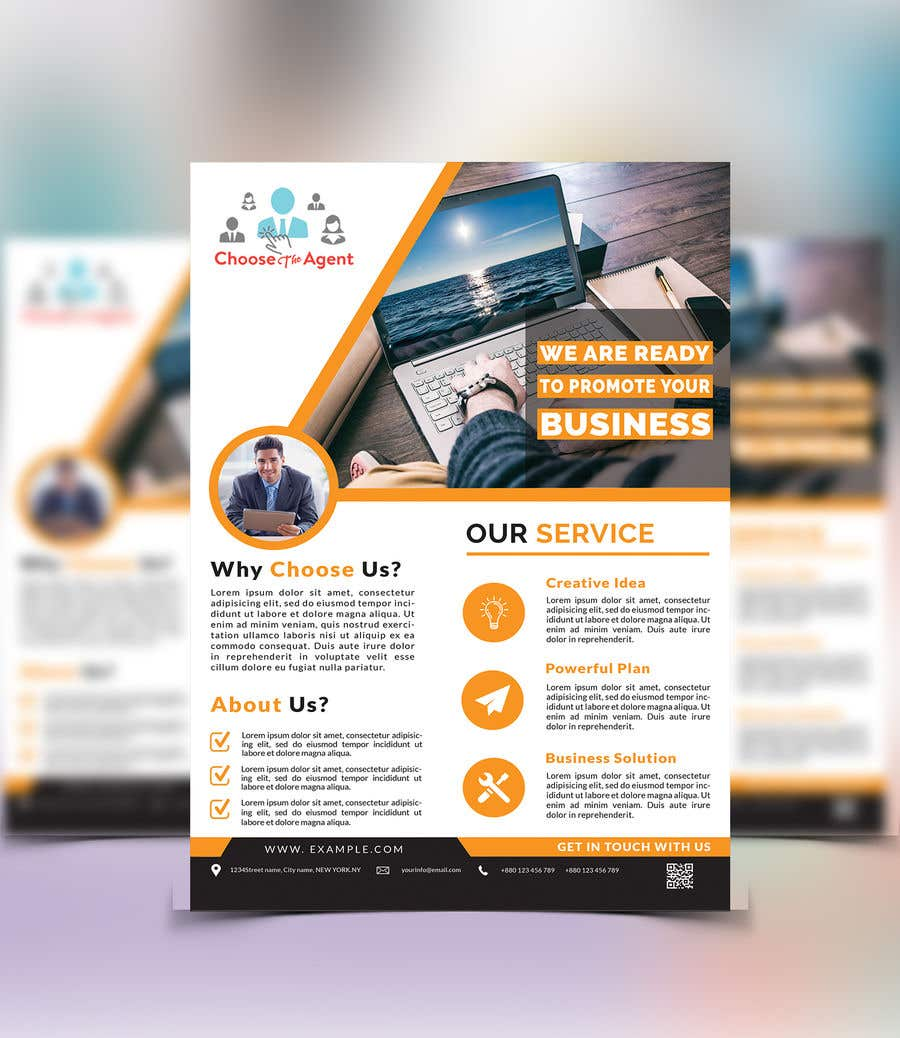 entry 12 by emon63 for need a one page flyer template freelancer