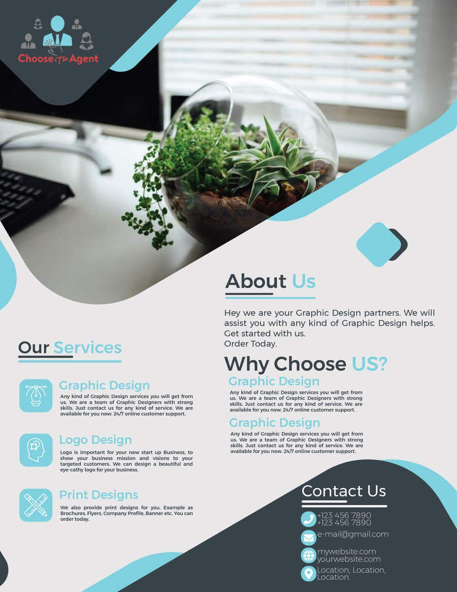 entry 1 by mahinul000 for need a one page flyer template freelancer