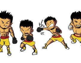 "#54 for Design an Asian Boxer Cartoon Character with 4 different punching actions/posts all in full body. (*Suggest to best use ""Srisaket Sor Rungvisai"" as the referral for the character) by miropetri"