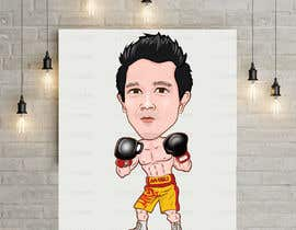 "#63 for Design an Asian Boxer Cartoon Character with 4 different punching actions/posts all in full body. (*Suggest to best use ""Srisaket Sor Rungvisai"" as the referral for the character) by ethegamma"