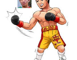 "#64 for Design an Asian Boxer Cartoon Character with 4 different punching actions/posts all in full body. (*Suggest to best use ""Srisaket Sor Rungvisai"" as the referral for the character) by satherghoees1"