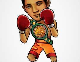 "#49 for Design an Asian Boxer Cartoon Character with 4 different punching actions/posts all in full body. (*Suggest to best use ""Srisaket Sor Rungvisai"" as the referral for the character) by oaseqomaravw"