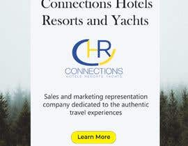 "Nro 2 kilpailuun Header - ""Announcing the launch of Connections Hotels Resorts and Yachts"" . One evocative image (I welcome suggestions or I will provide) and copy with contact details for click through (again, welcome suggestions or I can provide) www.connectionshry.com käyttäjältä SergejLjubojevic"