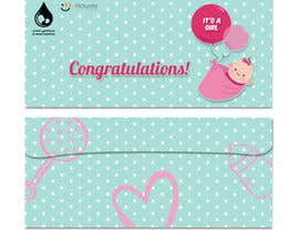 #1 for Envelope design (3 envelopes) for a maternity hospital gifts (PIcturate) by MReka07