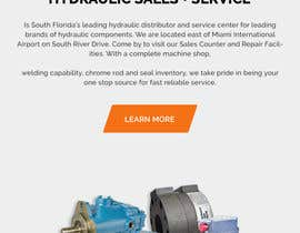 #20 for Website design for a company selling and service Hydraulic parts by yasirmehmood490
