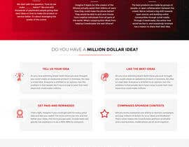 #40 para Blockchain and Cryptocurrency IDEA Platform Website Landing Page por tamamanoj