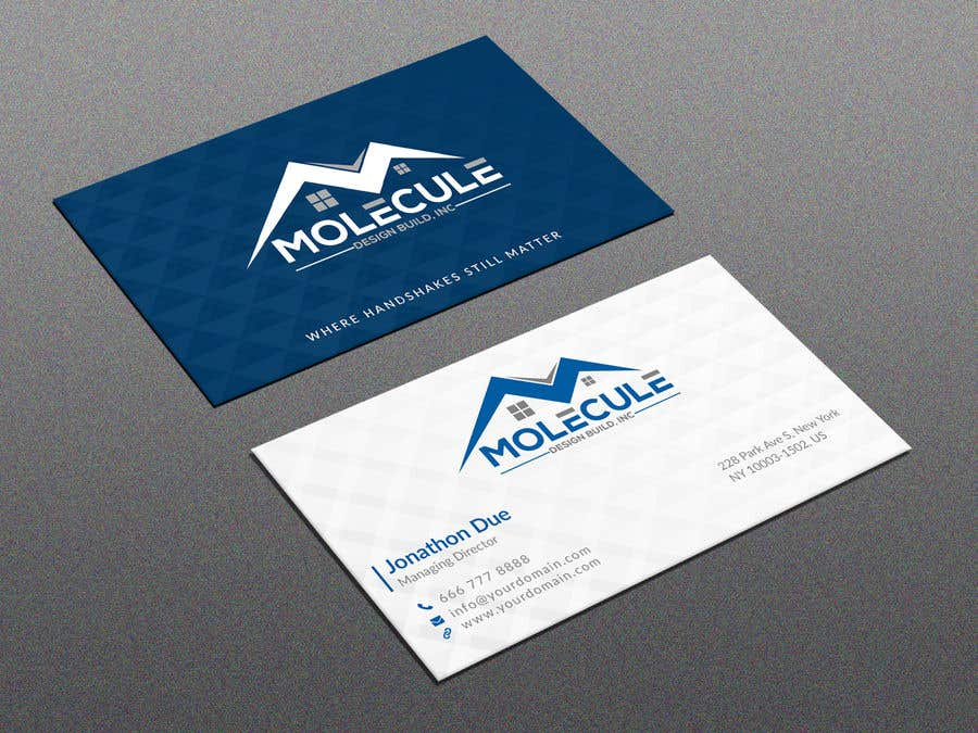 Entry #3 by joney2428 for 2 sided Business Card Layout & Logo ...