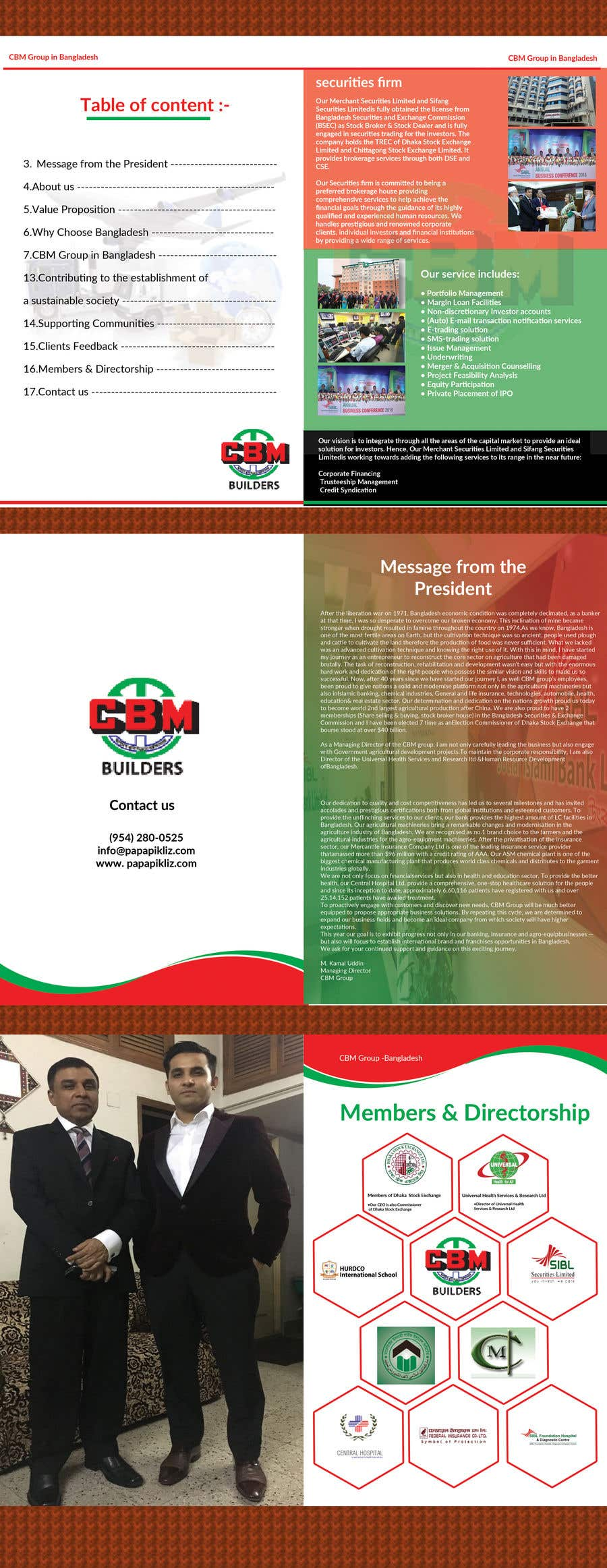 Entry #9 by lipiakhatun8 for Design a Business profile