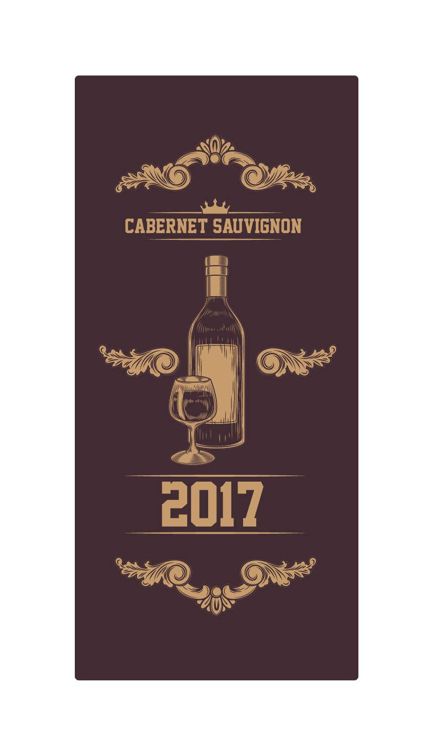 Contest Entry #                                        4                                      for                                         Design our wine label using our logo