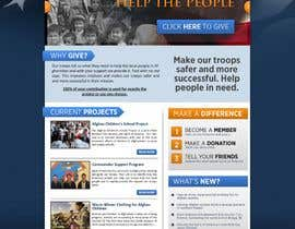 #29 para Website Design for Spirit of America de firethreedesigns