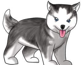 #3 dla Artist create original Siberian Husky Puppy Cartoon Character for Large sticker pack przez shinanomiyazawa
