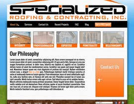 #17 untuk Wordpress Theme Design for Specialized Roofing & Contracting Inc. oleh SzaboTamas