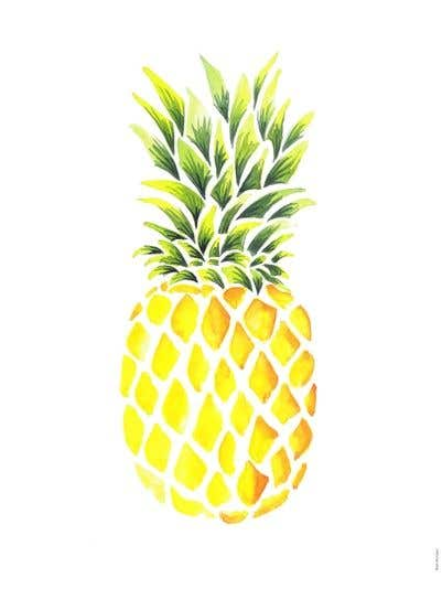 Contest Entry #17 for I need you to make a simple design of a pineapple. It doesnt really need to much detail. Just have a yellow pineapple with a green top (leaves).
