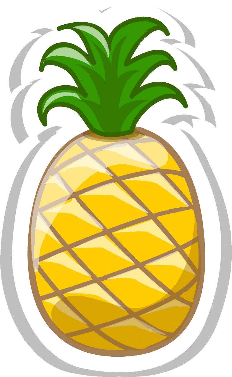 Entry 22 By Dcarolinahv For I Need You To Make A Simple Design Of A Pineapple It Doesnt Really Need To Much Detail Just Have A Yellow Pineapple With A Green Top