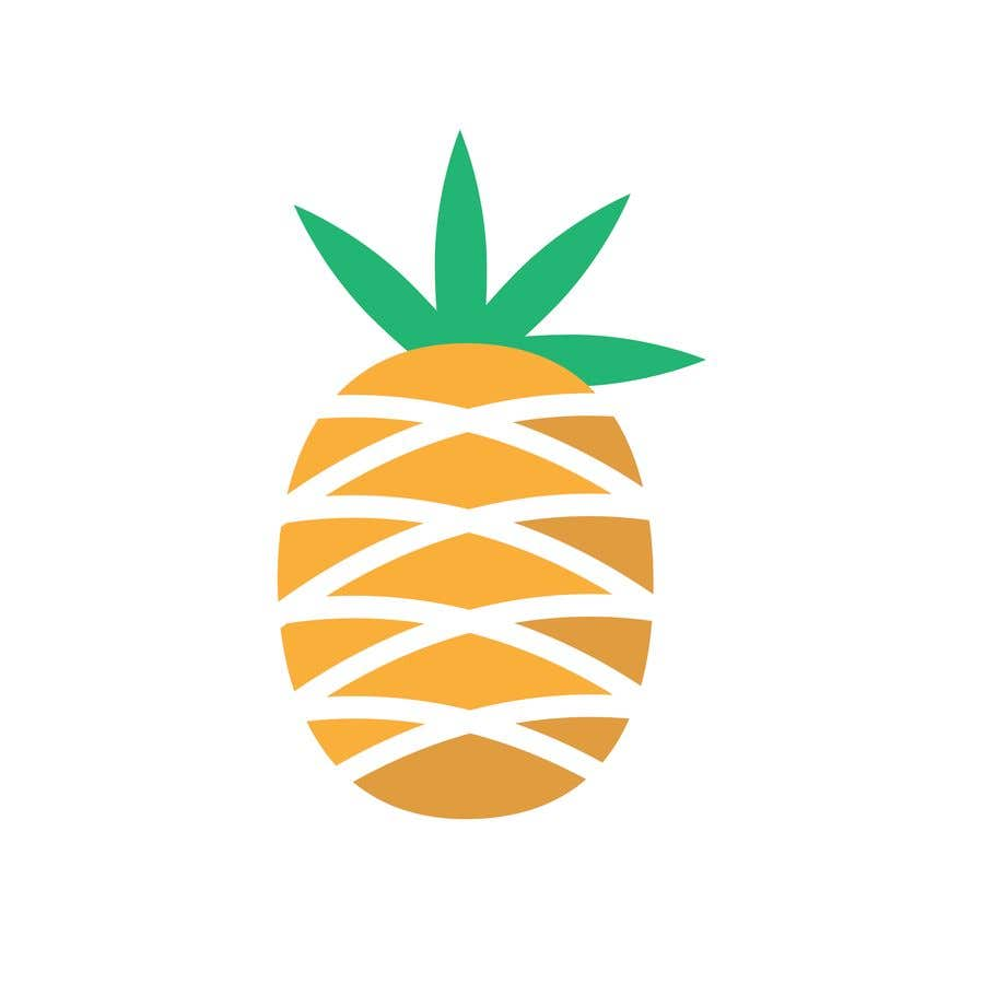 Contest Entry #10 for I need you to make a simple design of a pineapple. It doesnt really need to much detail. Just have a yellow pineapple with a green top (leaves).