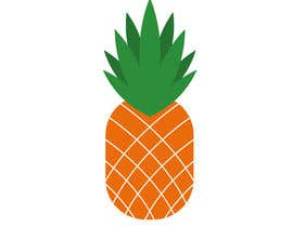 #6 for I need you to make a simple design of a pineapple. It doesnt really need to much detail. Just have a yellow pineapple with a green top (leaves). by hafsashahw