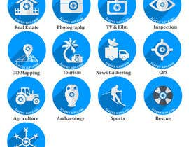 #14 for Drone Applications - ICON DESIGN x 12 af zzzabc