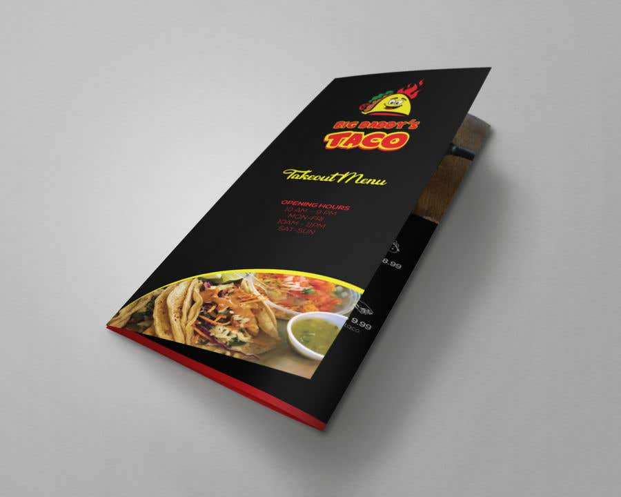 entry 16 by ferhanazakia for need a takeout menu design for
