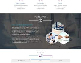 #56 for One page mockup for a website (landing page) af boushib