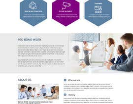#44 for One page mockup for a website (landing page) af TonycodeBlue