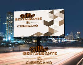"#14 for Hi guys! I need your help to create the logo of my new restaurant. It is called ""RESTAURANTE EL CIENEGANO"". I attach proposed colors and concept. It is important that the logo bears a hat typical of the Colombian Caribbean coast since that is the theme af ayeshamuhamad"