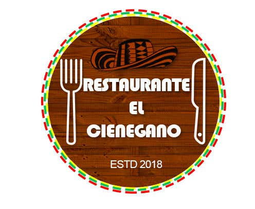 "Konkurrenceindlæg #15 for Hi guys! I need your help to create the logo of my new restaurant. It is called ""RESTAURANTE EL CIENEGANO"". I attach proposed colors and concept. It is important that the logo bears a hat typical of the Colombian Caribbean coast since that is the theme"