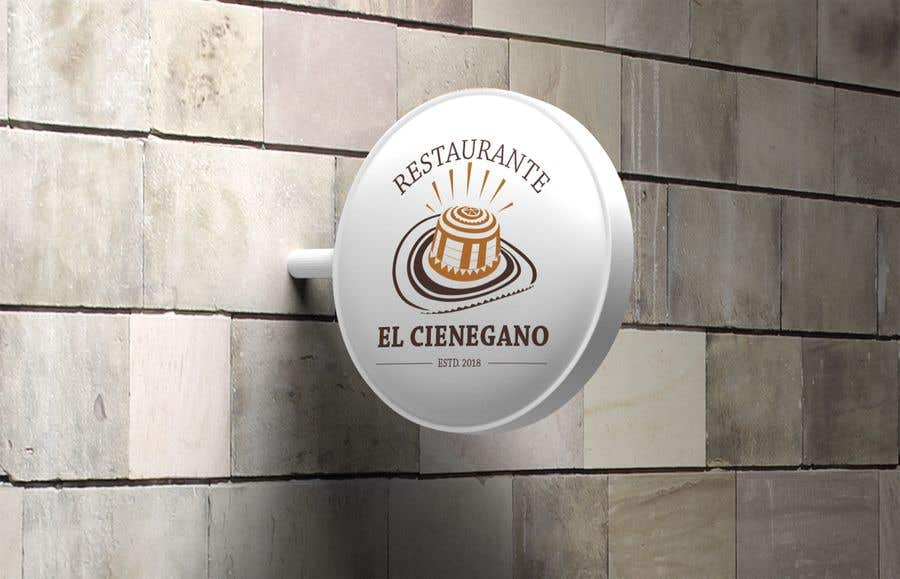 "Konkurrenceindlæg #4 for Hi guys! I need your help to create the logo of my new restaurant. It is called ""RESTAURANTE EL CIENEGANO"". I attach proposed colors and concept. It is important that the logo bears a hat typical of the Colombian Caribbean coast since that is the theme"