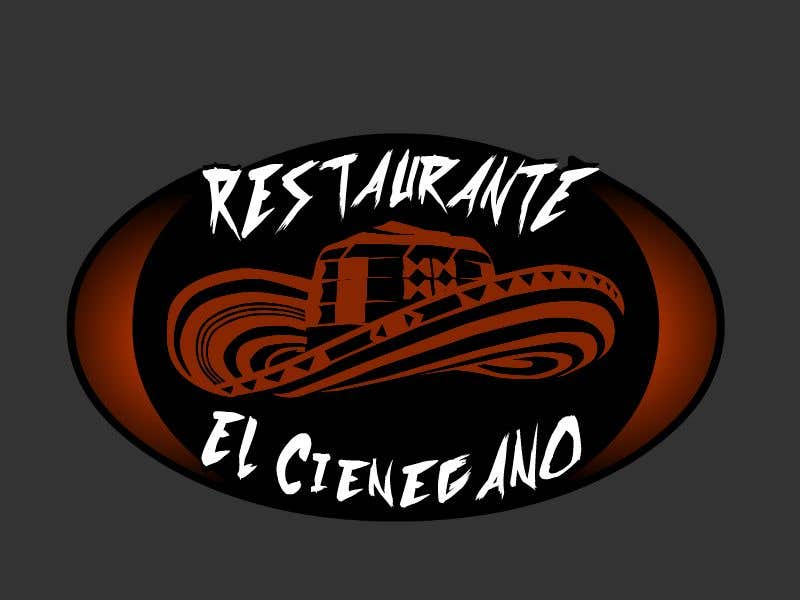 """Konkurrenceindlæg #18 for Hi guys! I need your help to create the logo of my new restaurant. It is called """"RESTAURANTE EL CIENEGANO"""". I attach proposed colors and concept. It is important that the logo bears a hat typical of the Colombian Caribbean coast since that is the theme"""