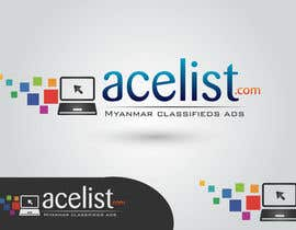 #73 untuk company logo icon with acelist.com and Myanmar classifieds ads text oleh nareshitech