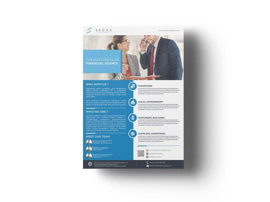 Entry  By Stylishwork For One Page Promotional Brochure  Freelancer