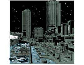 #3 cho Change a London photo to comics style illustration (and add a Hong Kong street market) bởi hussienkareem