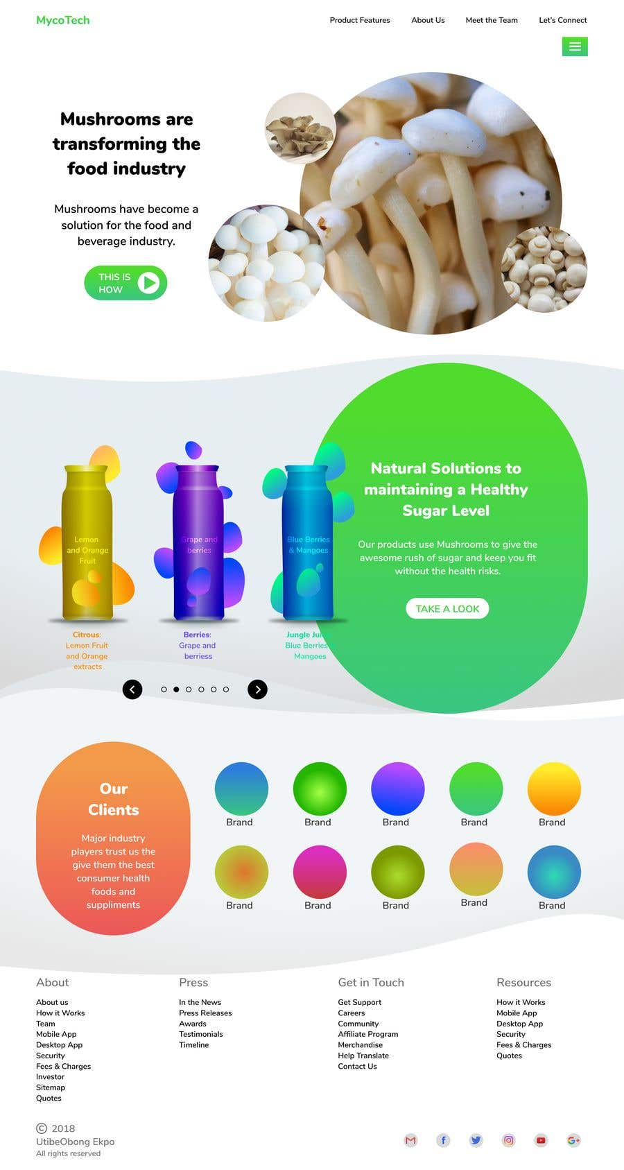 Entry 28 By Utibeobong For Design Homepage Of A Website In Psd