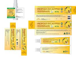 #41 para G'day honey propolis spray and Eucalyptus tooth paste package and label design por BlaBlaBD