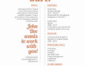 #12 cho I need a infographic cv/resume. bởi tim8onotamit