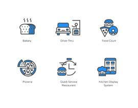 #10 per Design 8 custom icons for a startup website (Flat / Cartoon type) da LouisPhilippeBF