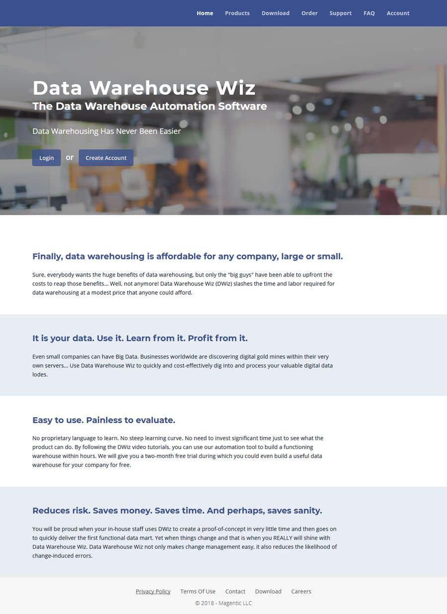 Penyertaan Peraduan #9 untuk Data Warehouse Wiz Mockup