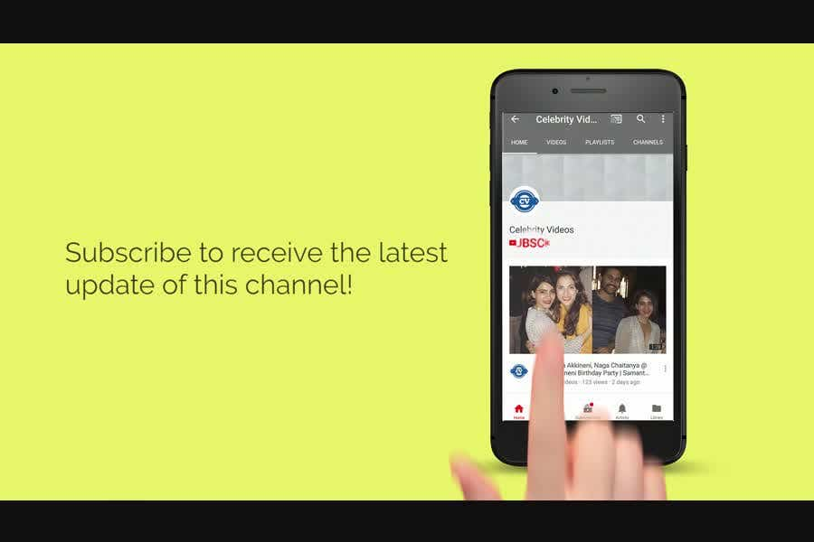 YouTube Subscribe to Channel Intro Video With Bell Icon and
