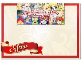 Nro 6 kilpailuun Wedding menu design käyttäjältä GraphicWork15