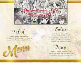 Nro 8 kilpailuun Wedding menu design käyttäjältä GraphicWork15