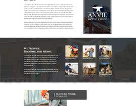 #21 para Anvil Roofing and Siding Landing Page Mockup de ByteZappers