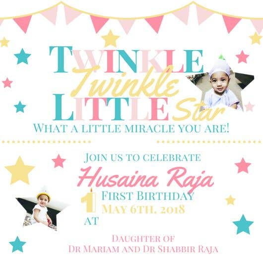 Contest Entry 26 For Design A Birthday Invite Baby Girls 1st