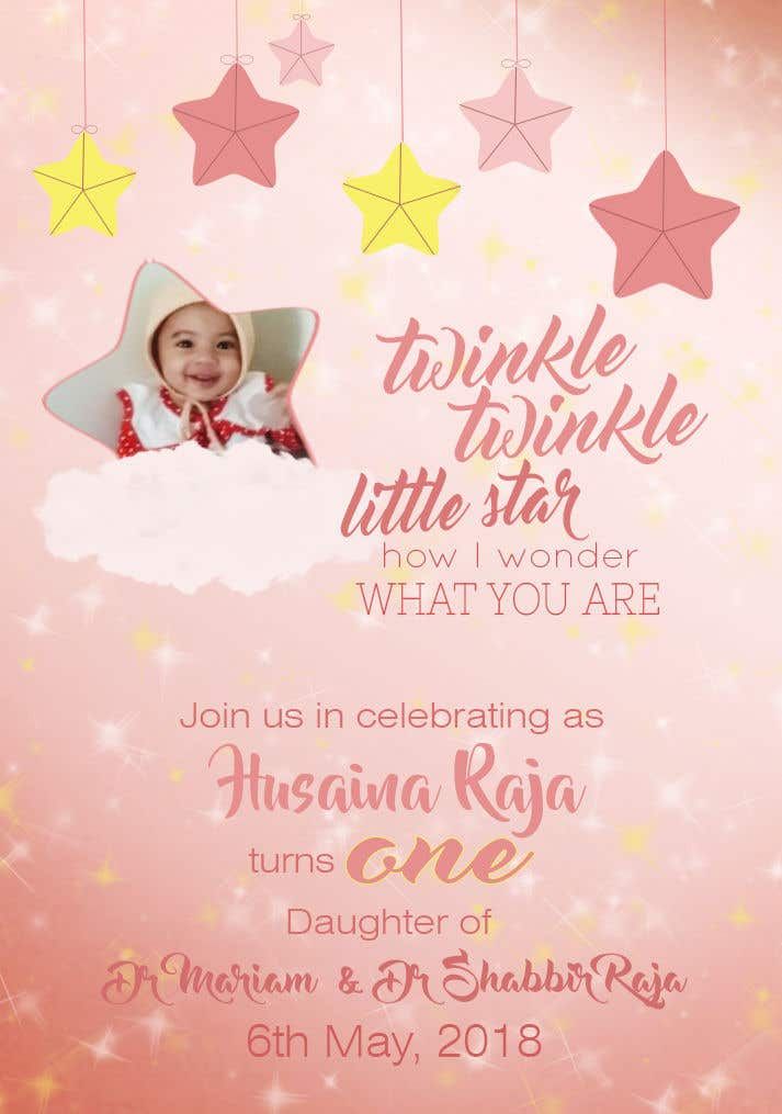 Entry 22 By Denisadenyyy For Design A Birthday Invite For Baby