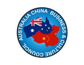 "Basit30 tarafından Logo design for "" Australia China Business & Culture Council"" colour base is navy blue and red, please reference both national flags için no 6"