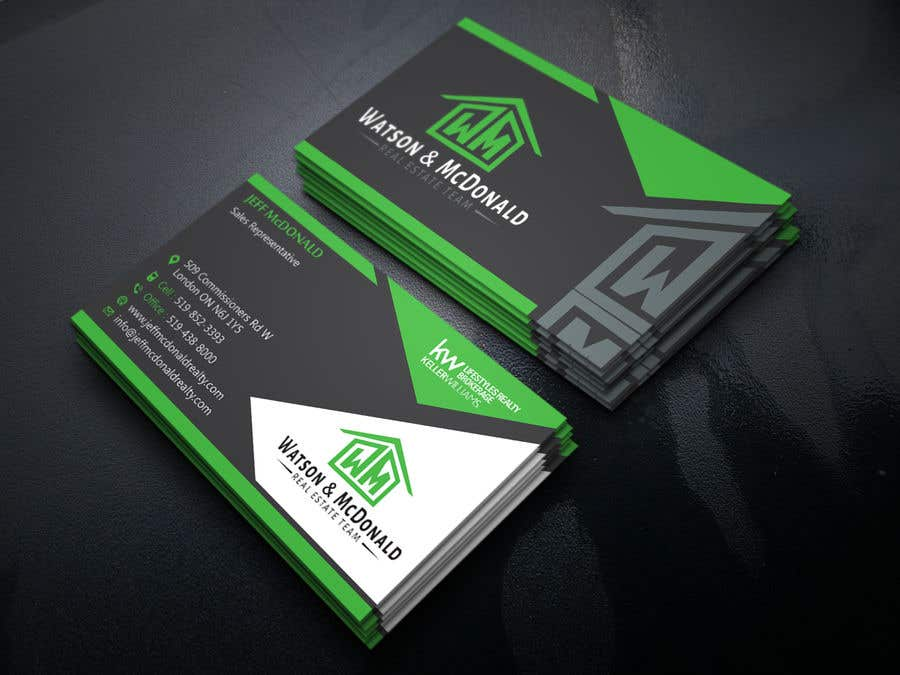 Entry 50 By Graphicboxmaster For Real Estate Business Card Template