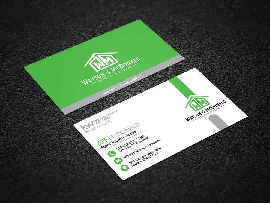 Entry 125 By Pixelmaker982 For Real Estate Business Card Template
