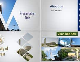 #15 untuk Create a professional PowerPoint Template to represent a university oleh NafisaAnika2812